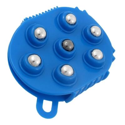 UXCELL-Blue-Plastic-7-Metal-Rolling-Balls-Massage-Tool-Body-Massager-Glove