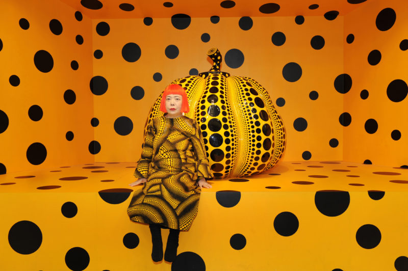 Yayoi Kusama with Pumpkin at Aichi Triennale 2010