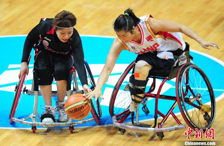 广州亚残运会中日女子轮椅篮球大战